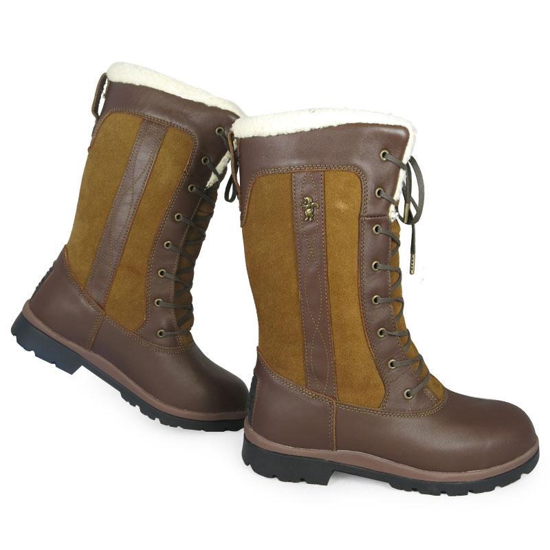 Caldene Estate 3/4 Length Waterproof Fur Leather Suede Muck ...