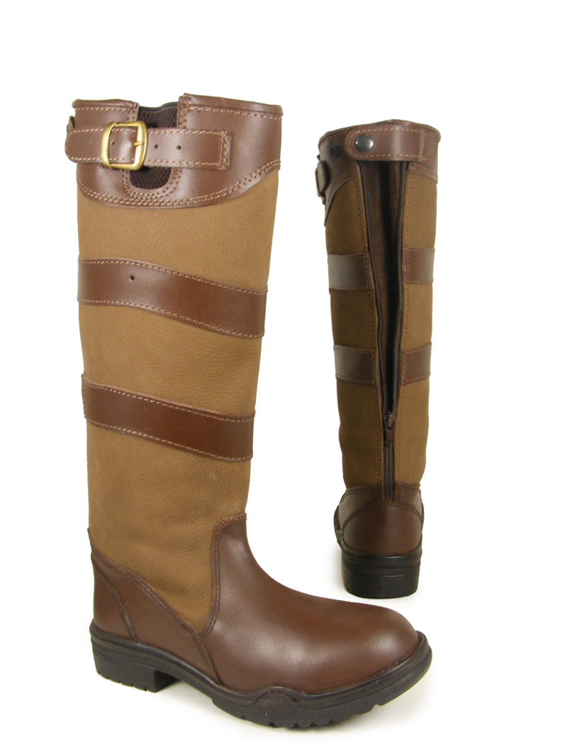 LEATHER HORSE RIDING WINTER YARD COUNTRY BOOTS ALL SIZE | eBay