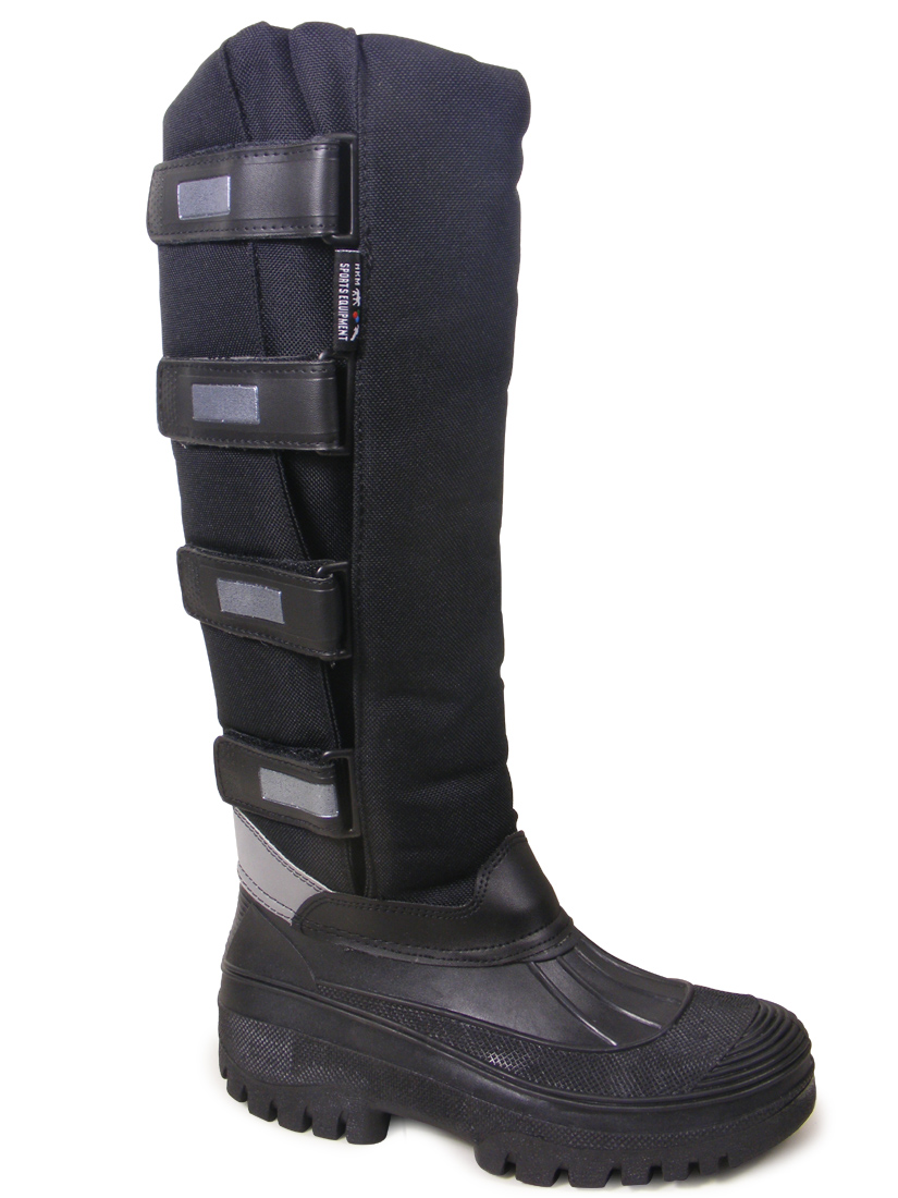 HKM BLACK HORSE RIDING WINTER YARD STABLE RAIN WELLIES MUCKER ...