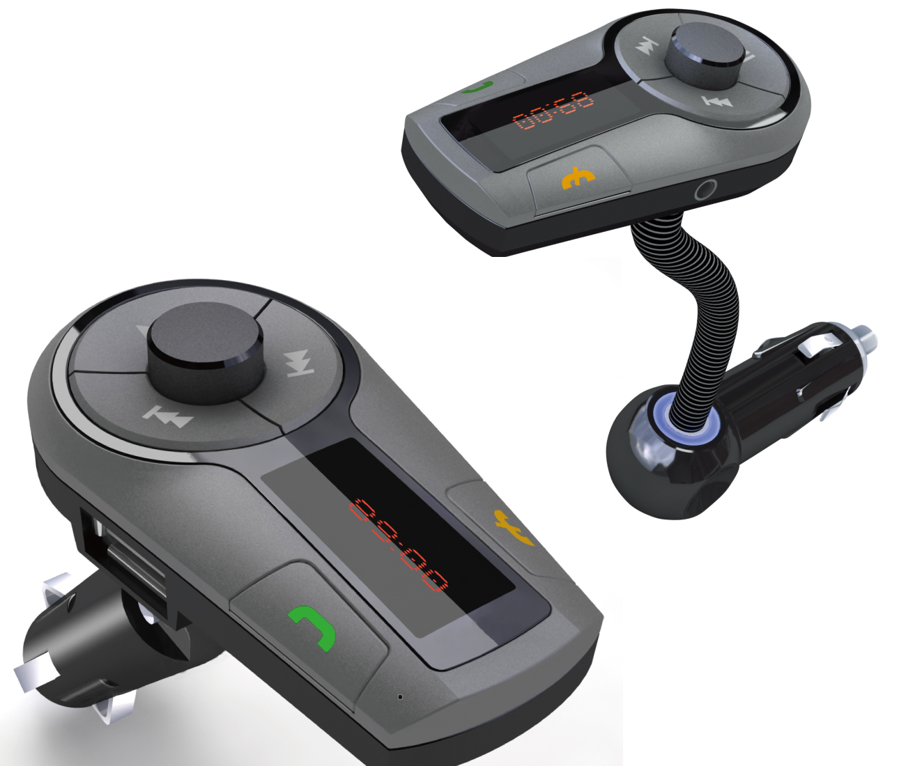 sd airwave fm transmitter and bluetooth car kit with led display for htc one ebay. Black Bedroom Furniture Sets. Home Design Ideas