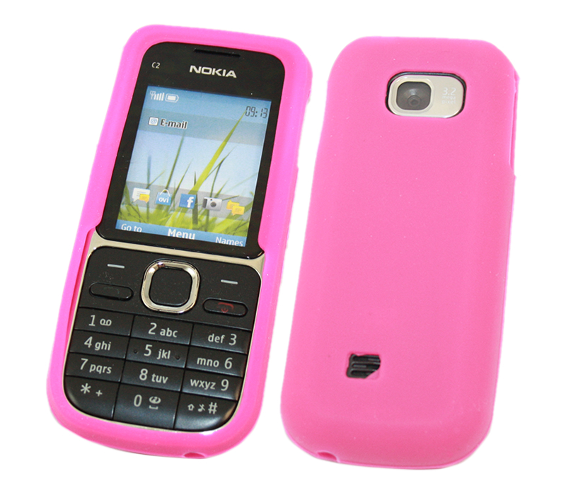 SoftSkin PINK Silicone Skin Case Cover Protector for Nokia C2 01