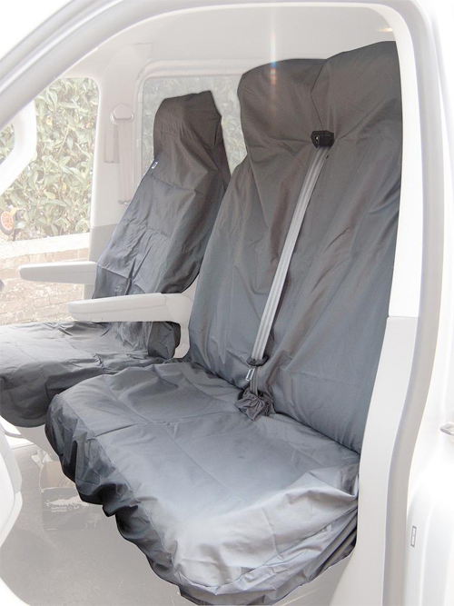 Citroen Berlingo Van Seat Cover - Front & Double (Grey) Enlarged Preview