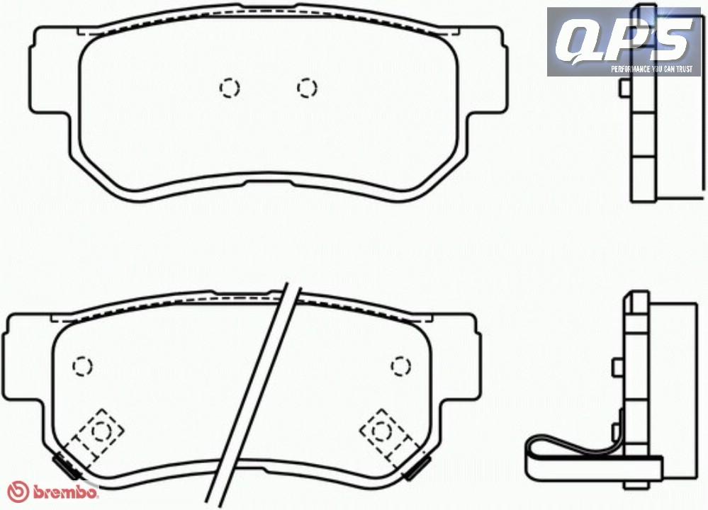 for hyundai getz  tb  1 5 crdi brembo rear brake pads 08