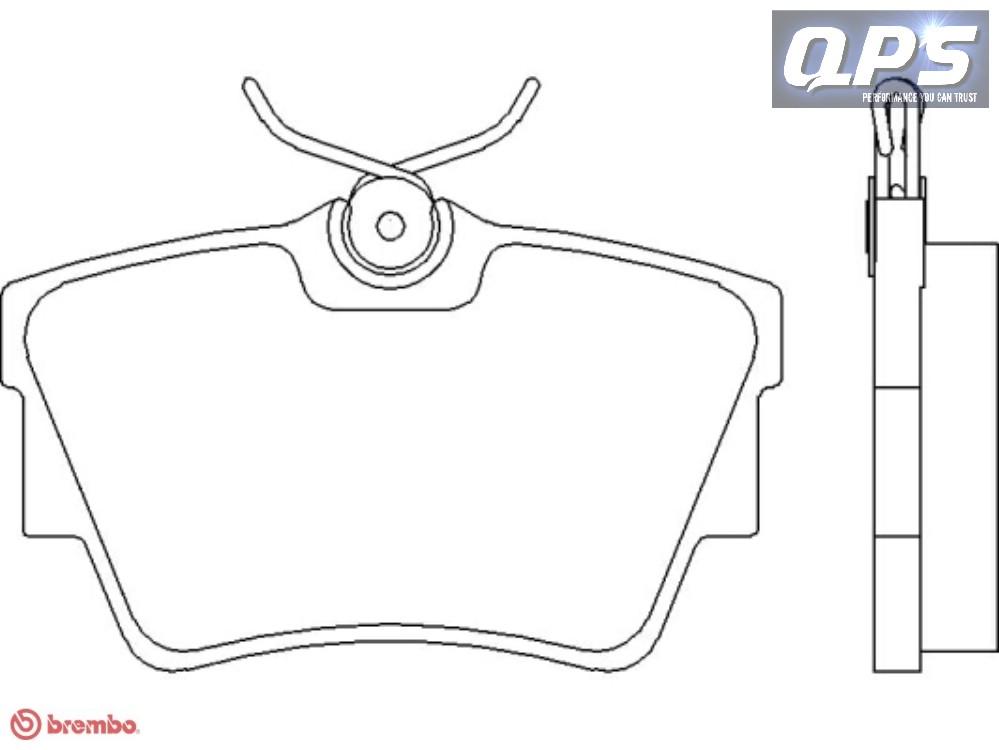 opel vivaro combi  j7  2 0 cdti brembo rear brake pads 08