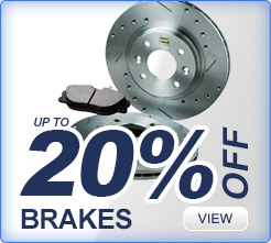 20% off on brakes
