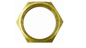Brass Lock Nut M20 X 1.5 Metric Thread, Nickel Plated