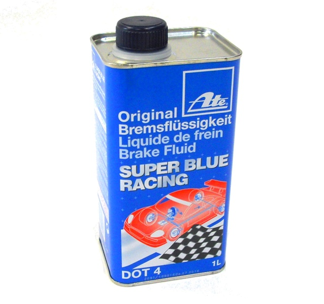 ate super blue racing brake fluid dot 4 1 litre ebay. Black Bedroom Furniture Sets. Home Design Ideas