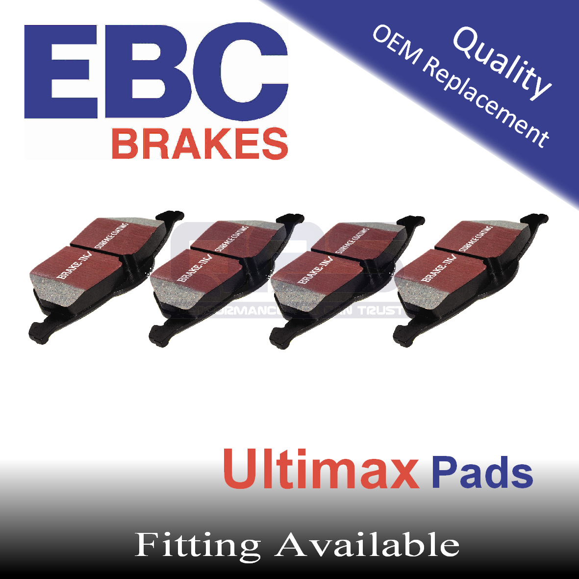 EBC Ultimax Front Brake Pads for MICROCAR Virgo  0.5, 98-2004
