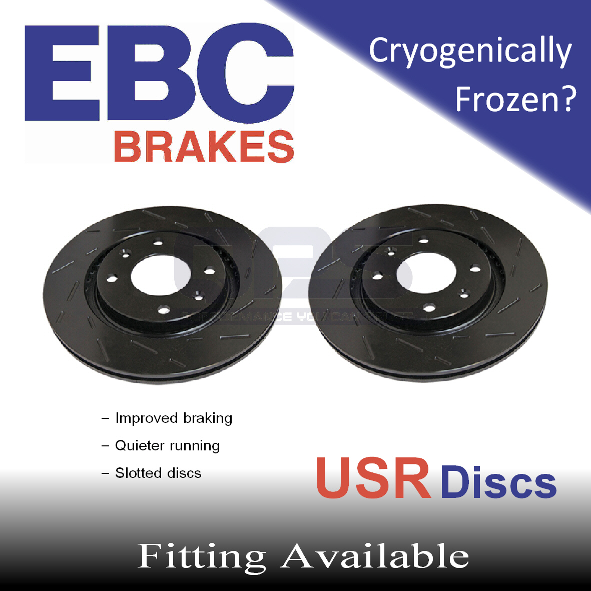 EBC USR Grooved Rear Brake Discs for PEUGEOT 406 Coupe 2.2 TD (Brembo) 01->04