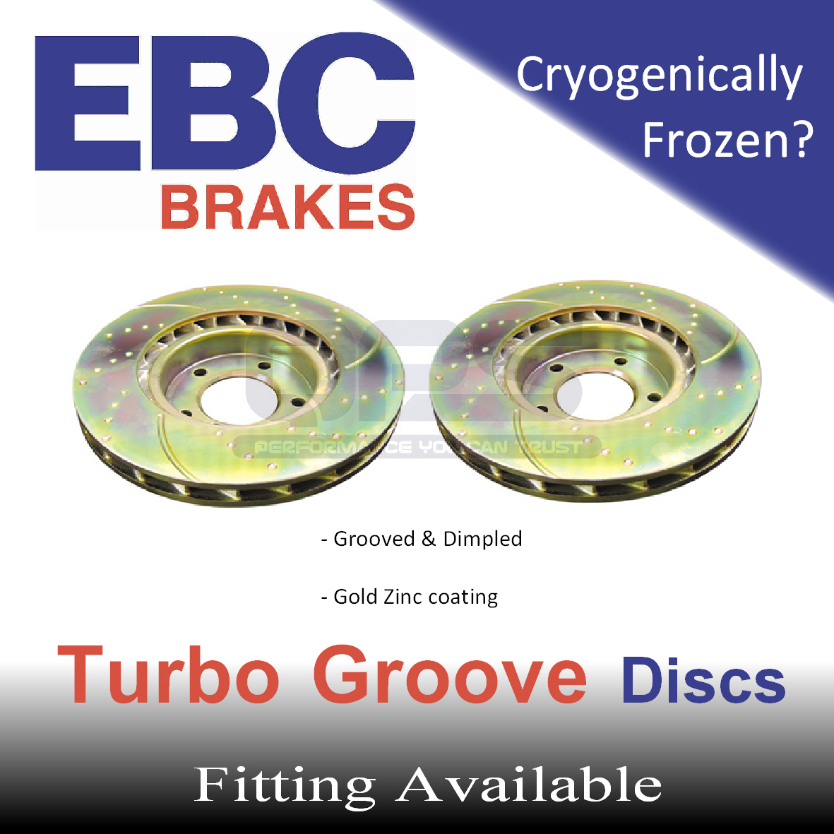EBC Turbo Groove Rear Brake Discs for BMW 525 2.5 (E39) 00->03