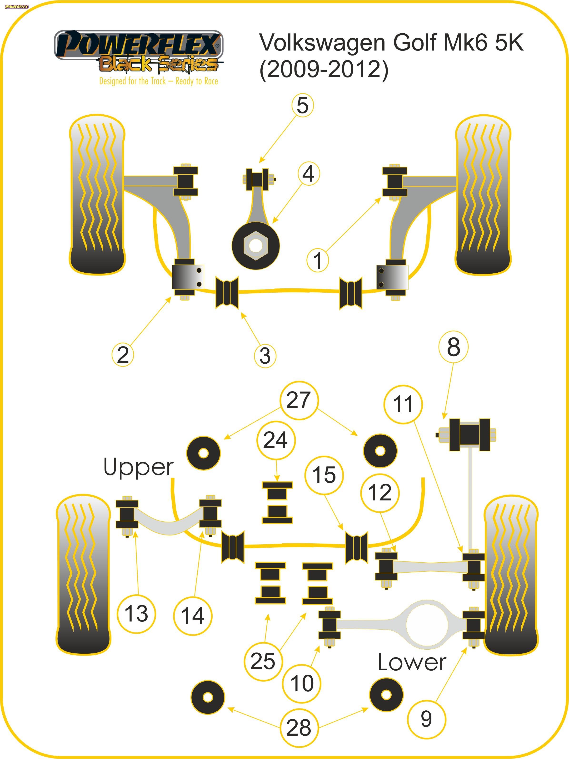 Powerflex-Spazzole-85-525blk-Differenziale-Post-POSTERIORE-SUPPORTO-BOCCOLA