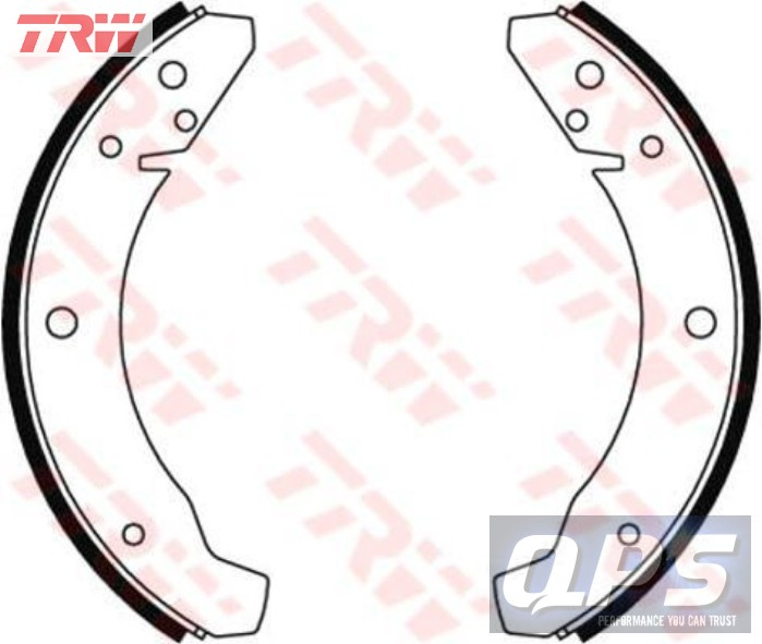 VW ILTIS 1.7 TRW Brake Shoe Set, 79>88