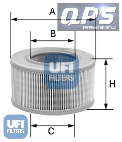 Bedford Astramax 365 L 1.3 UFI Air Filter, 09/85 ->
