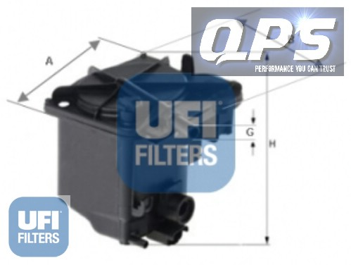 peugeot 307 sw 1 6 hdi 16v fap ufi fuel filter 02 04. Black Bedroom Furniture Sets. Home Design Ideas