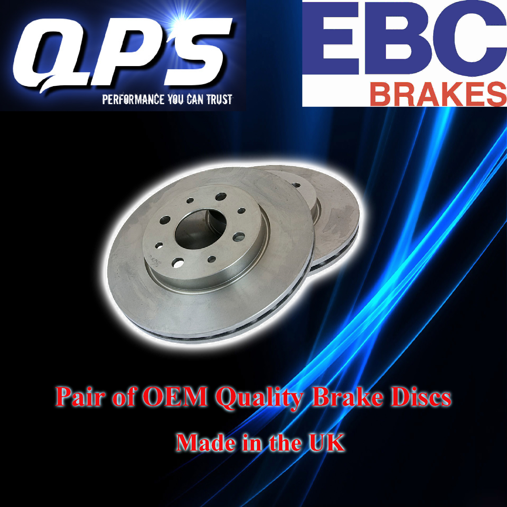 EBC Front Brake Discs (Rotors) for Toyota Camry 1.8 (SV10), 83->87