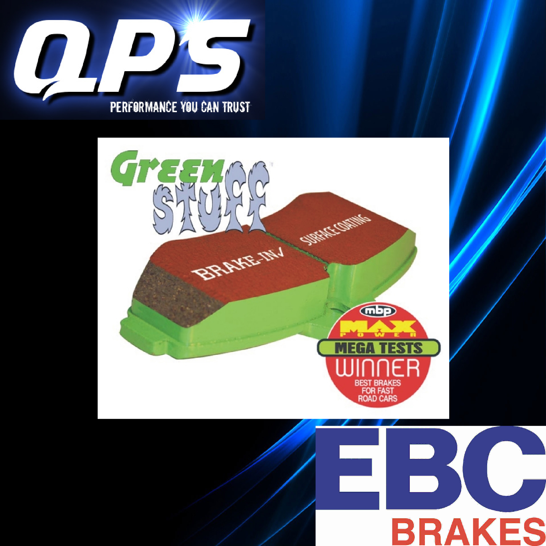EBC Greenstuff Front Brake Pads for NISSAN C Series 280C (Y30), 83-88
