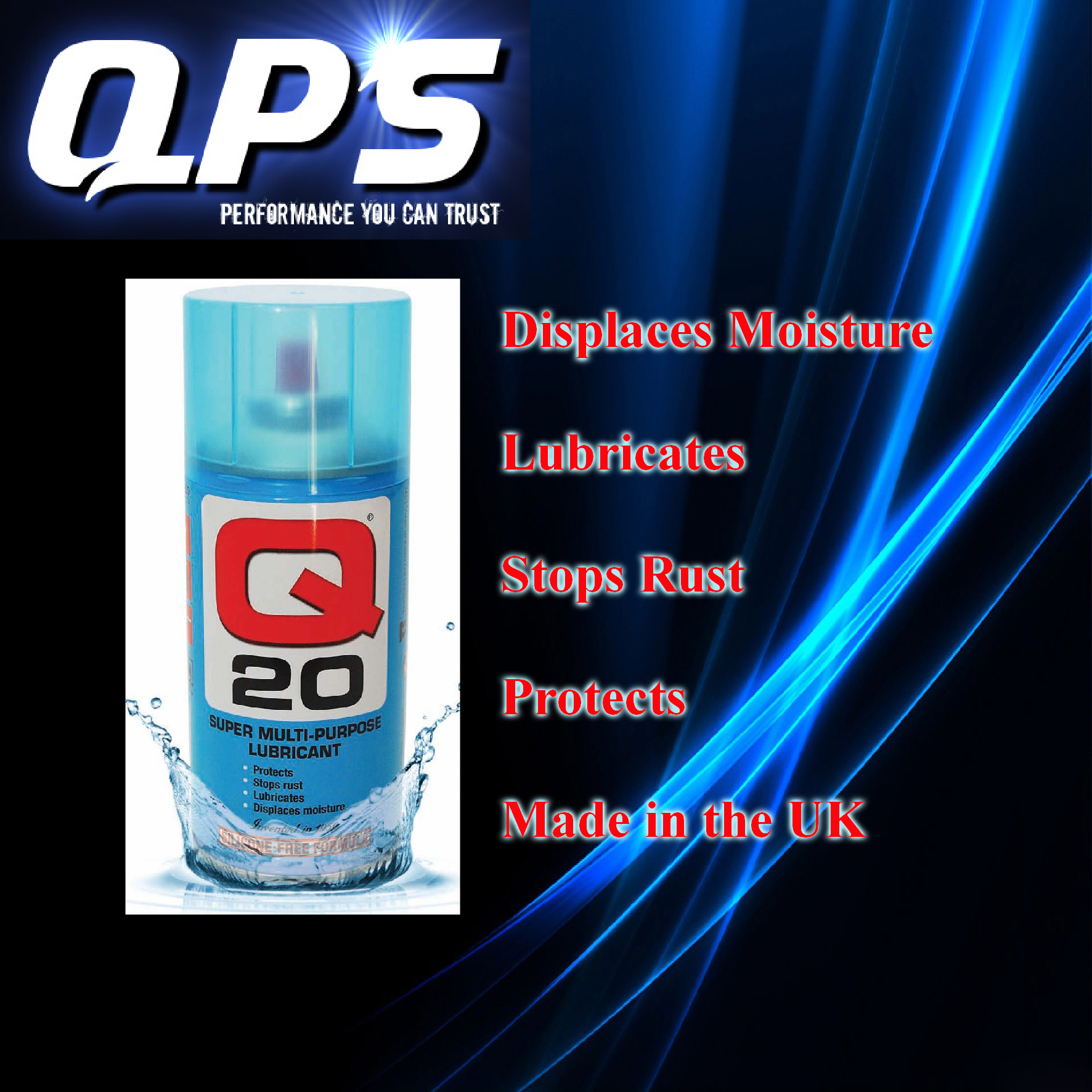 Q20 Super Multi Purpose Lubricant x 300ml, Stops Rust, Protects + Lubricates