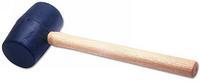 Laser Large Rubber Mallet 1kg + Wooden Handle Robust Tool 0434