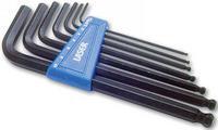 7 Pieces Laser Hex Key Set Metric Black Finish + Clip Holder 0272