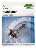 Ring 12v 55w H7 PX26d Halogen Headlight Bulb  RU477