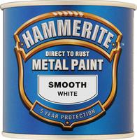 Hammerite Smooth Direct To Rust Aerosol Can Spray Paint White 250ml 5084857