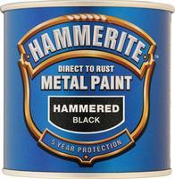 Hammerite Smooth Direct To Rust Aerosol Spray Paint Black 250ml 5084792