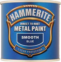 Hammerite Smooth Direct To Rust Aerosol Spray Paint Blue 250ml 5084884