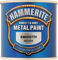 Hammerite Smooth Paint Silver 250ml 5084894
