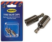 Bikeplan Bike Plan Tyre Valve Cap Bottle - Silver BKP079 New
