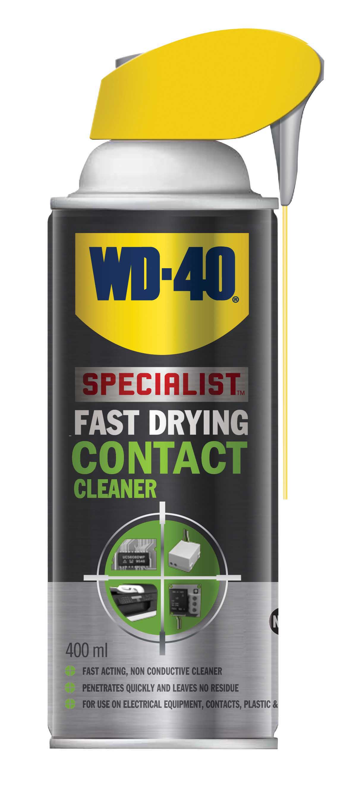 fast drying contact cleaner smart straw aerosol spray 400ml wd 40 44376 ebay. Black Bedroom Furniture Sets. Home Design Ideas