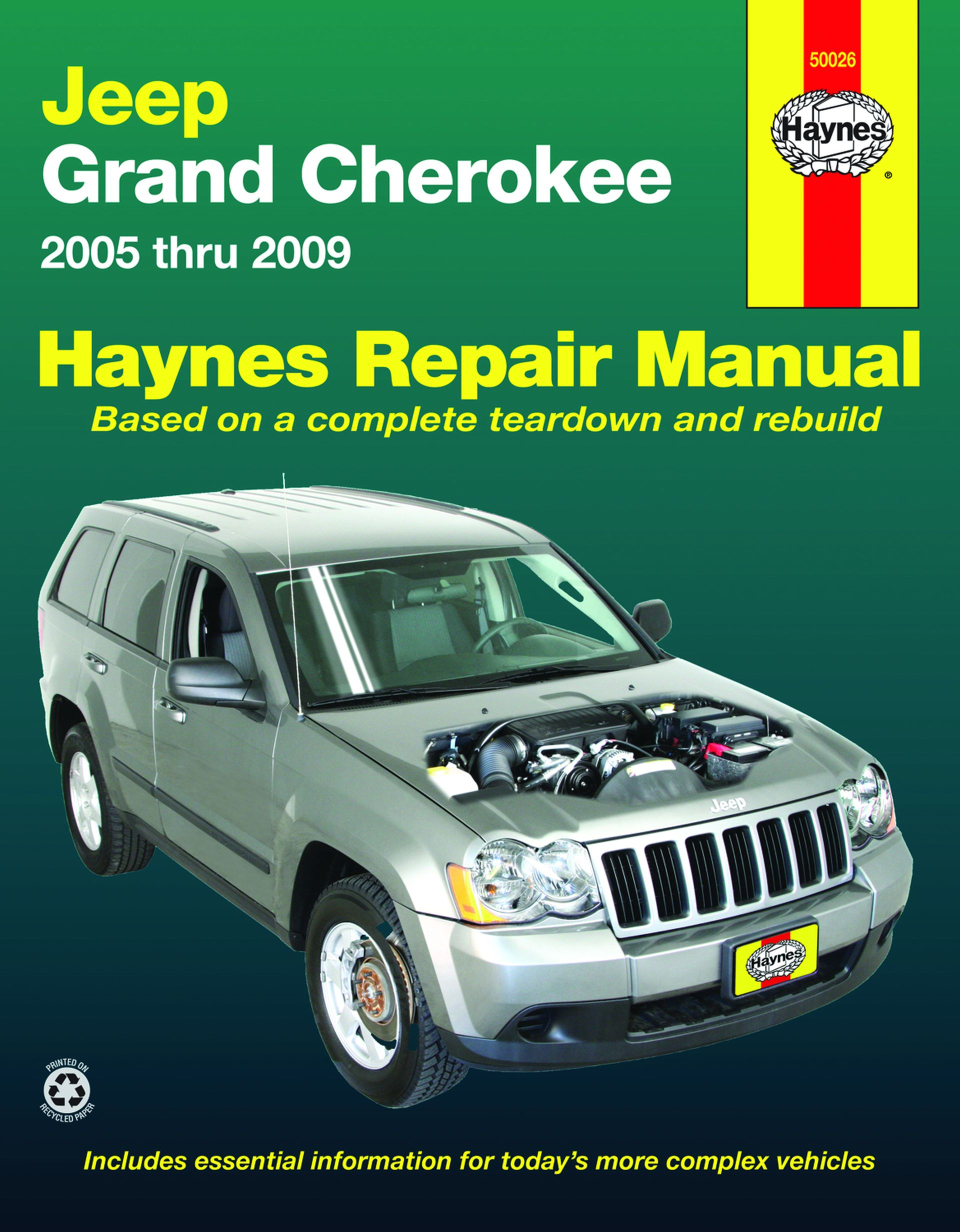 Haynes Owners + Workshop Car Manual Jeep Grand Cherokee Handbook (05 - 09) 50026