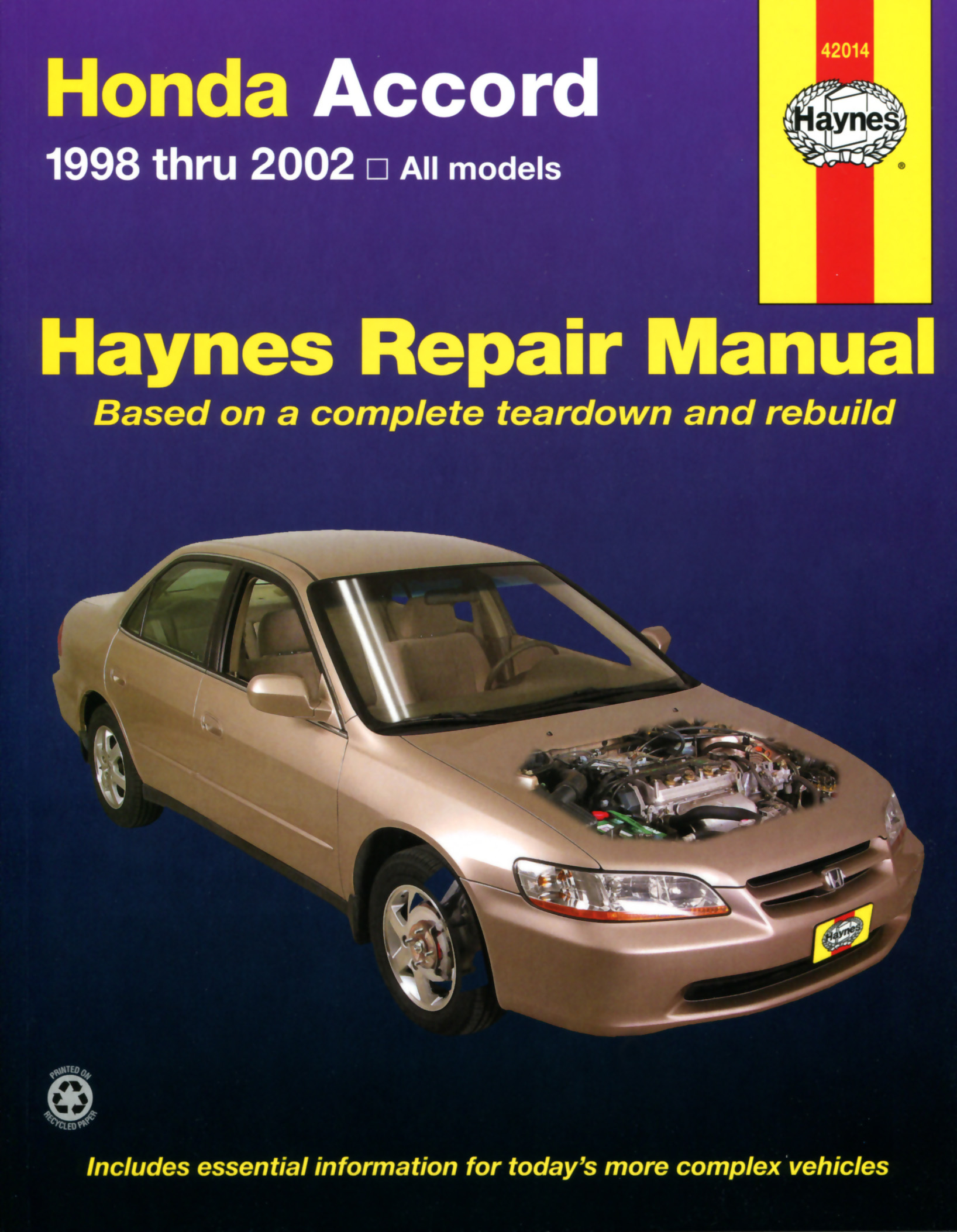 haynes owners workshop car manual honda accord handbook. Black Bedroom Furniture Sets. Home Design Ideas