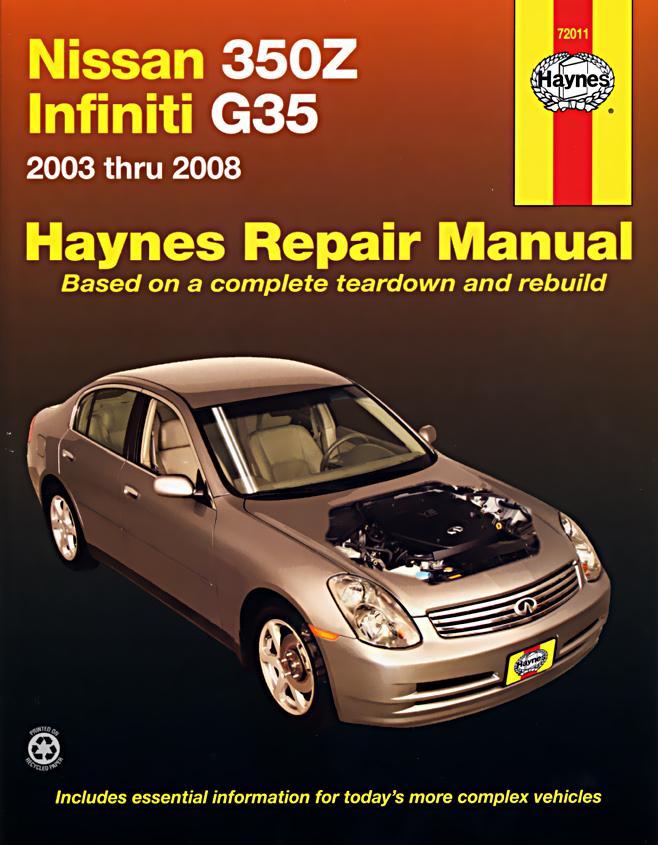 haynes owners   workshop car manual nissan 350z  u0026 infiniti