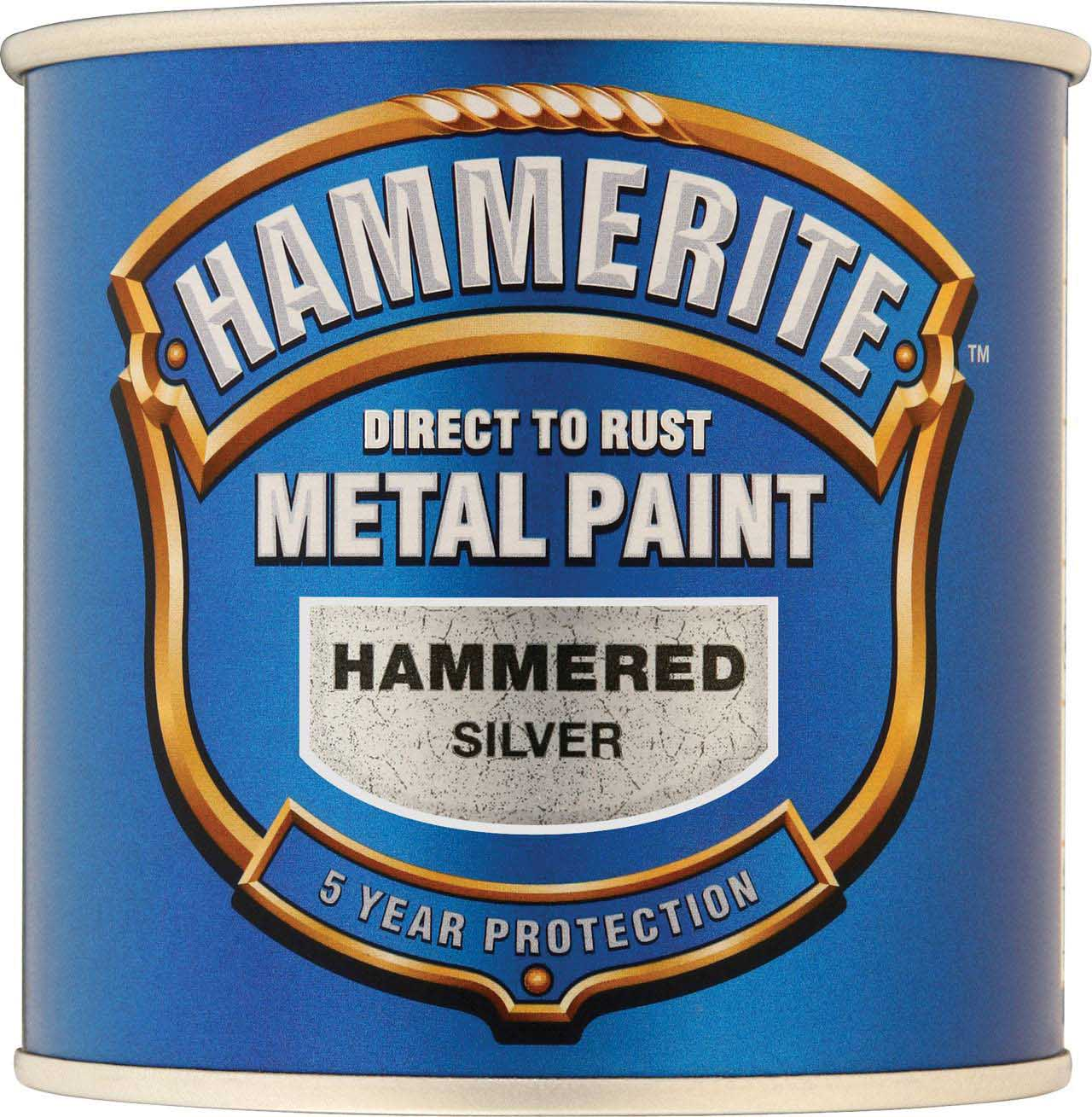 Hammerite Direct To Rust Hammered Silver Grey 250Ml Paint ...