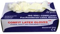 Saville Extra Strong Disposable Latex Gloves Medium Pack of 100 LG201M