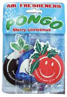 3 x Pongo Mixed Scent Car/Van/Caravan Air Freshener Christmas Mixed Scents