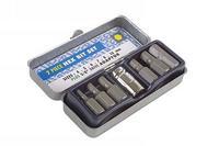 7 Pieces Laser Hex Bit Set Metric Chrome Vanadium Metal Storage Case 0593