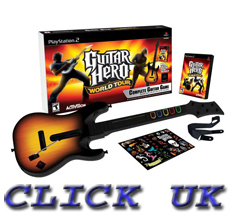 GUITAR HERO WORLD TOUR GUITAR BUNDLE PS2 *NEW* Enlarged Preview