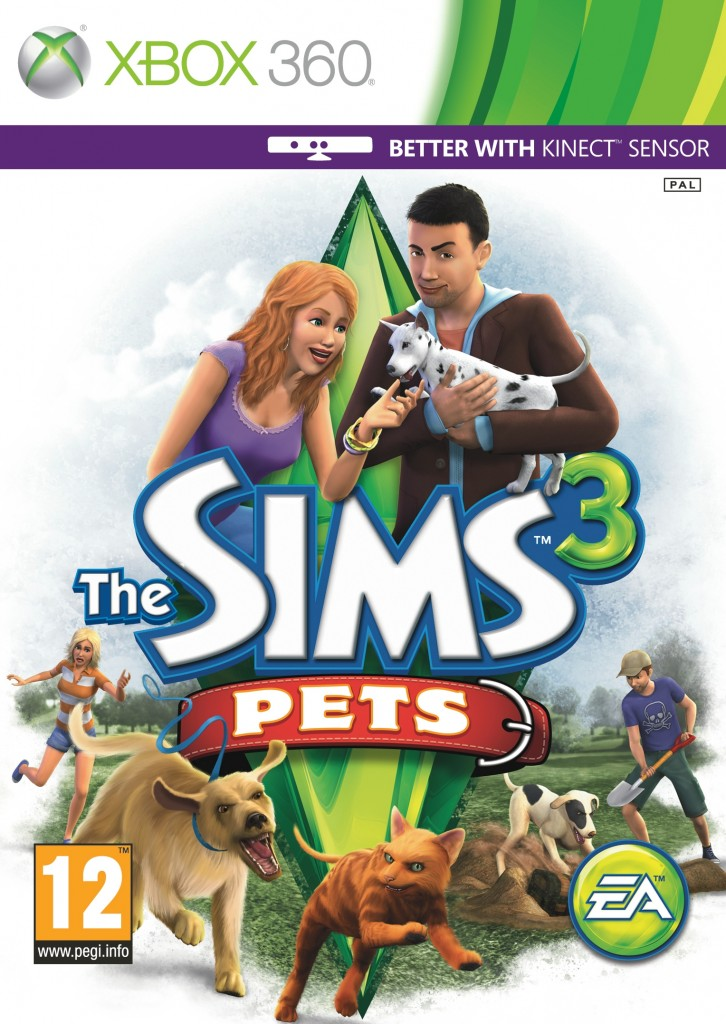 the sims 3 pets xbox 360 new sealed ebay. Black Bedroom Furniture Sets. Home Design Ideas
