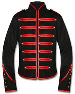 View Item BANNED BLACK PARADE MILITARY JACKET - BLACK & RED