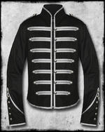 View Item BANNED BLACK PARADE MILITARY JACKET - BLACK & SILVER