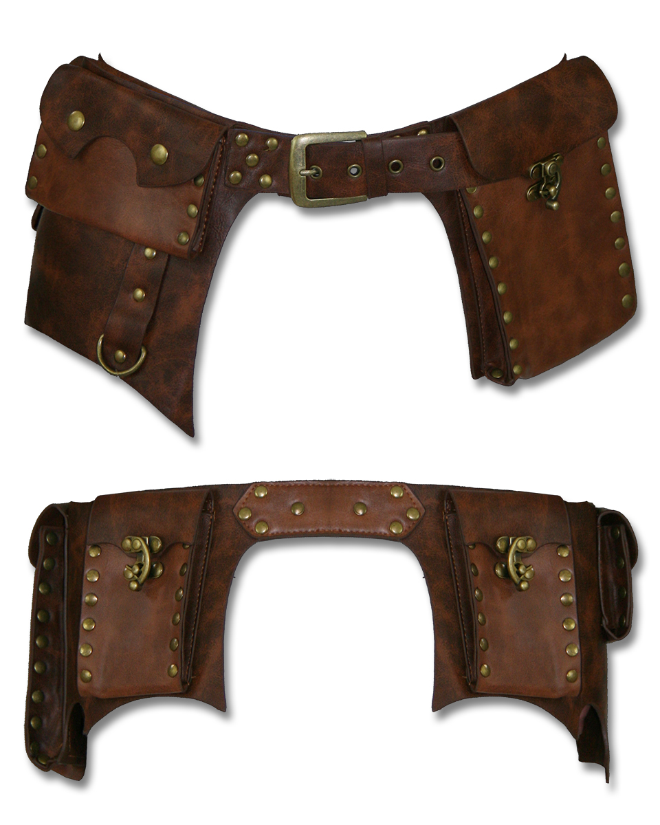restyle steunk brown faux leather copper