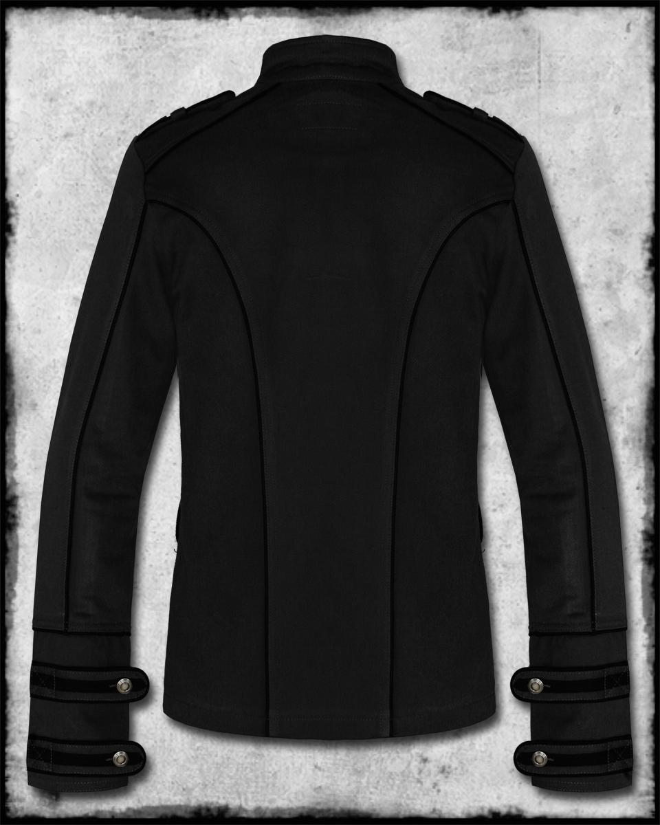 Tripp NYC Mens Black Night Patrol Goth Steampunk Guard Military ...