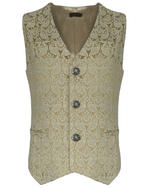 View Item PENTAGRAMME PALATINE MENS WAISTCOAT - CREAM BROCADE
