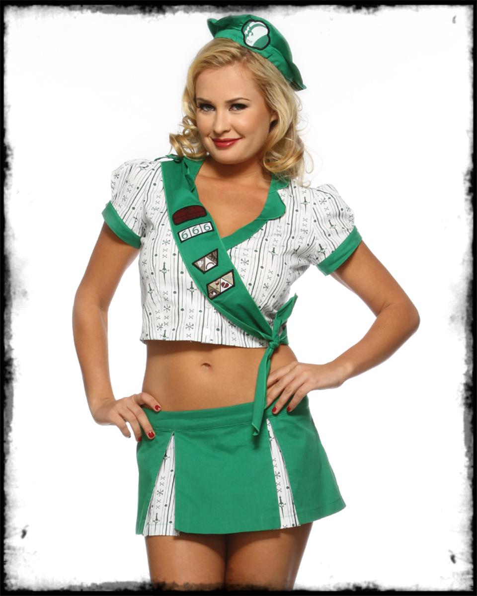 lip service troop 666 girl scout fancy dress costume sz ebay