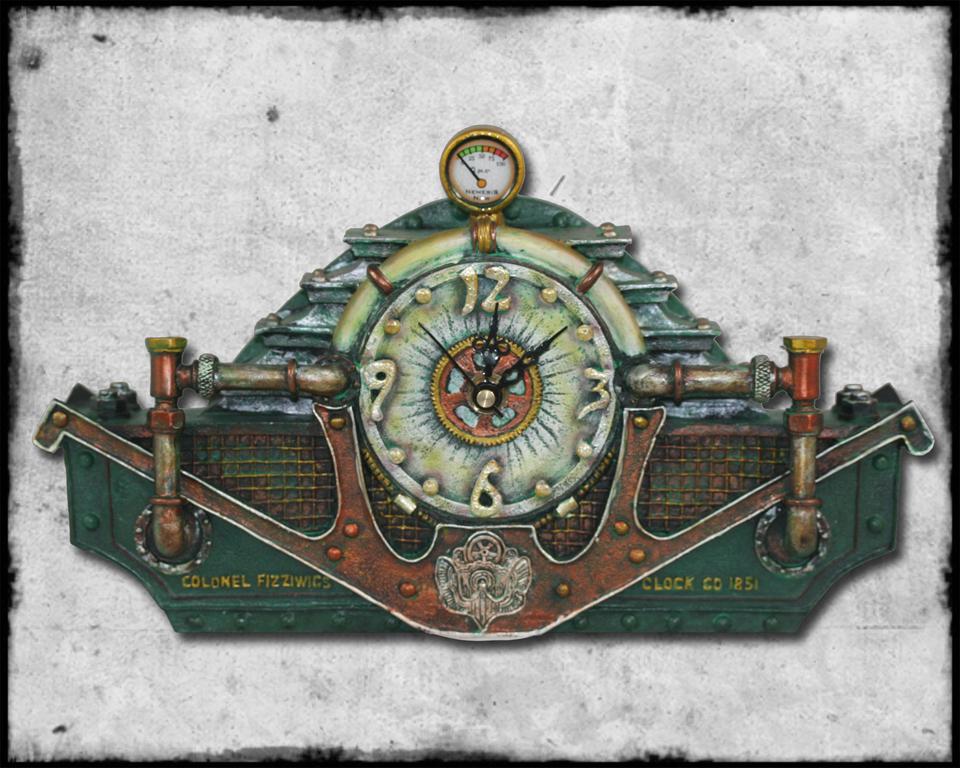 Nemesis now fizziwig steampunk victorian resin steam conversion time unit clock ebay - Steampunk mantle clock ...