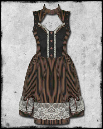 BANNED INTREPID KEYHOLE STEAMPUNK DRESS Preview