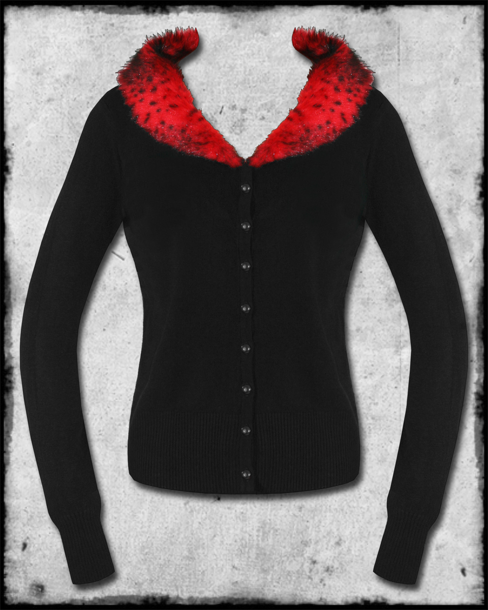 Red Sweater With Fur Collar 9