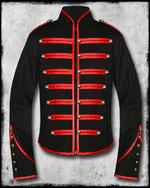 View Item JAWBREAKER BLACK PARADE MILITARY JACKET - BLACK & RED