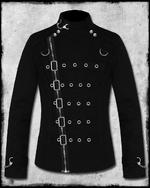 View Item BANNED ASYLUM BONDAGE JACKET - BLACK & SILVER